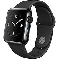 APPLE WATCH S3 BLACK STAINLESS STELL/BLACK SPORT BAND 38MM