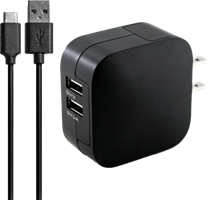 KEY 3.4A Dual Port USB-C Wall Charger