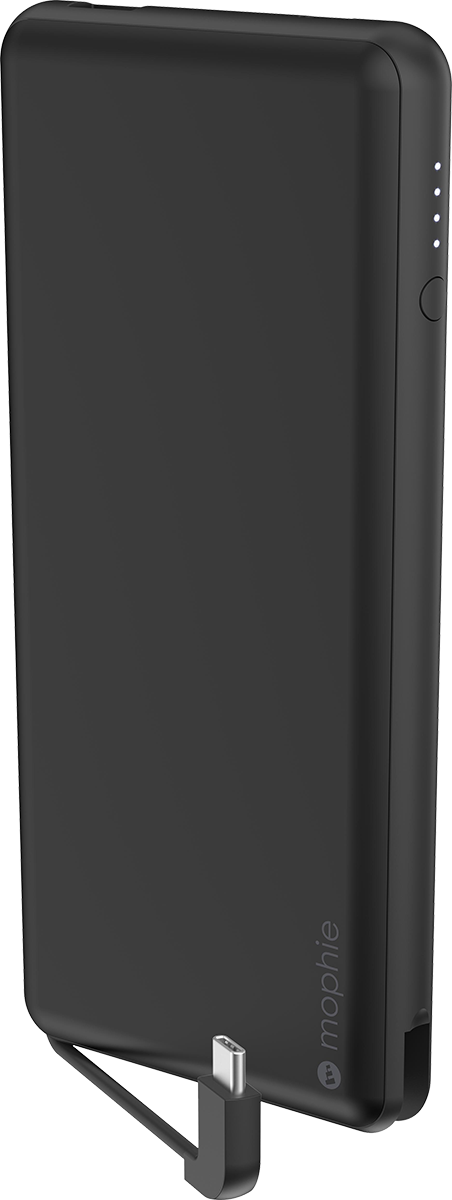 12000 mAh Powerstation Plus XL External Battery with Integrated USB-C Cable and Additional USB-A Port - Matte Black