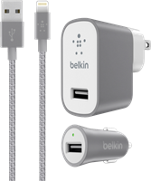 Belkin 2.4A Lightning Wall/Car Charger Combo