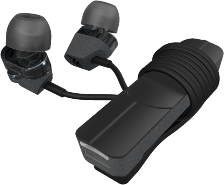 Impulse Duo Premium Wireless In-Ear Headphones with Mic - Charcoal/Black