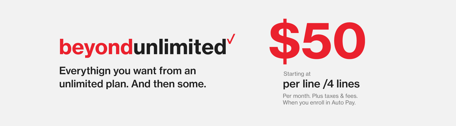 Beyond Unlimited Plan - $50