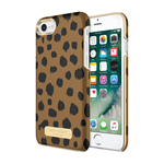 iPhone 7 Sugar Paper Leather Wrap Case - Black/Brown Leather Leopard
