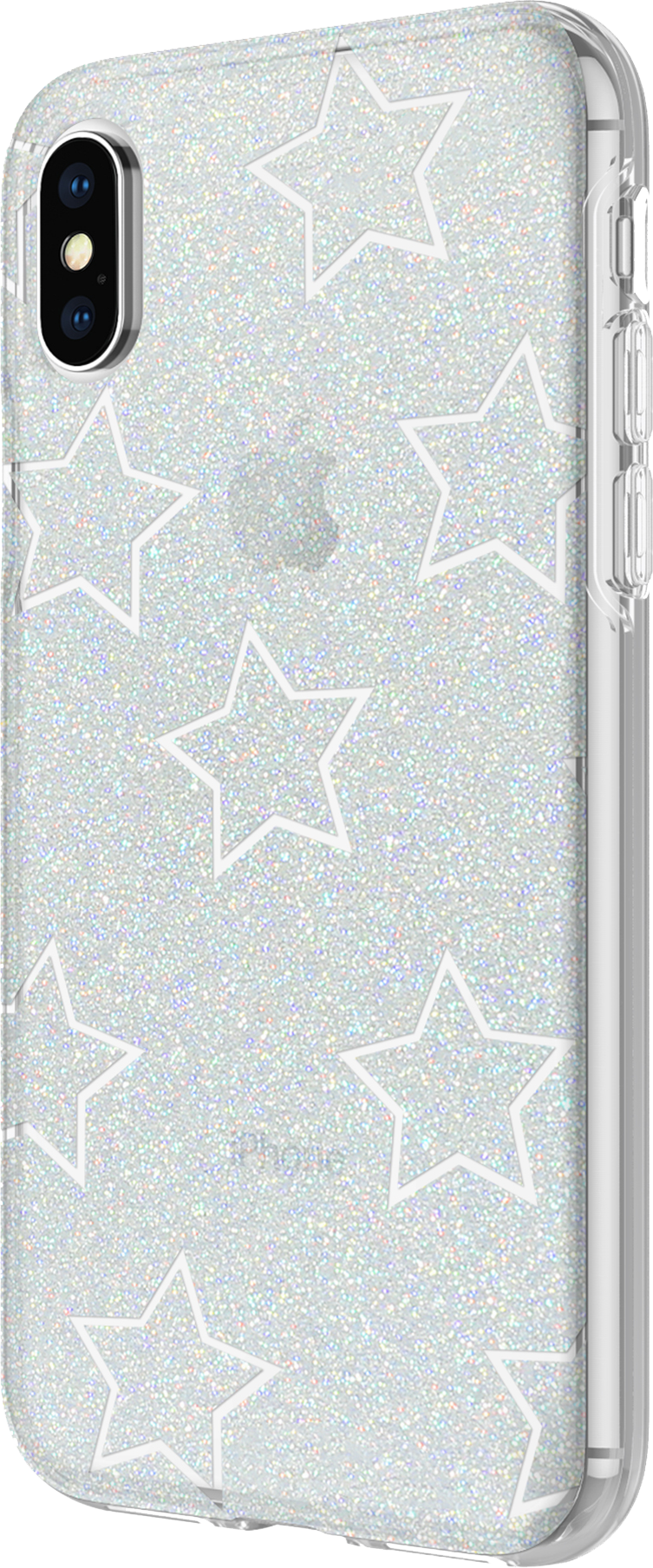 iPhone X Design Case - Glitter Star Cutout