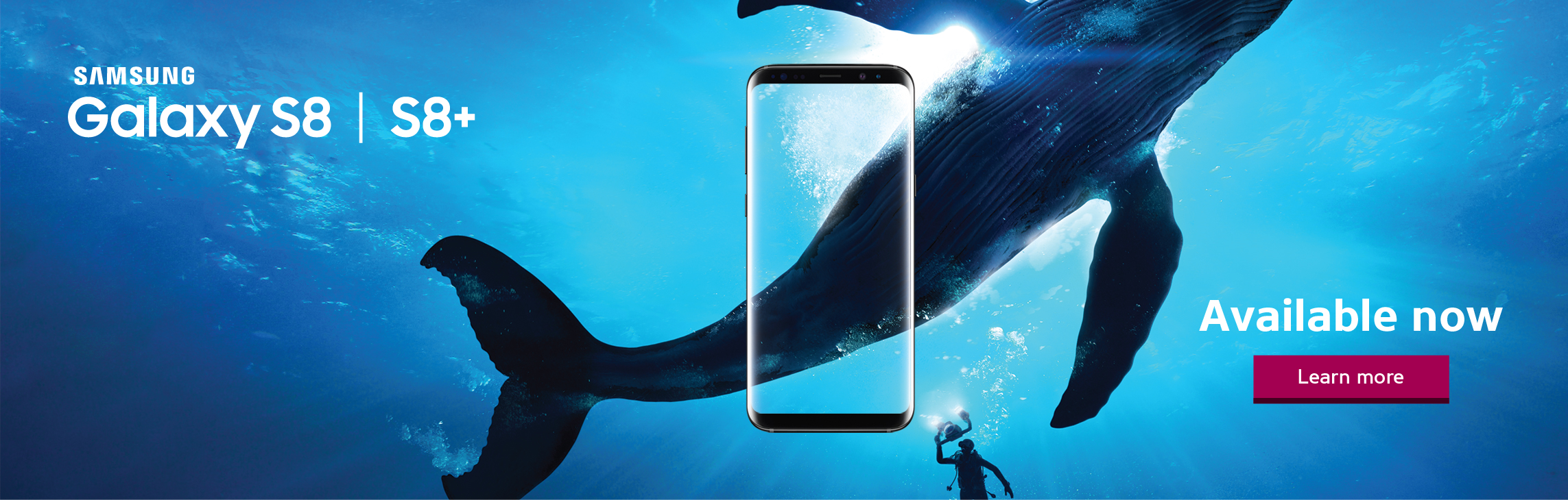 Samsung Galaxy S8 and S8+ are available now at WOW! mobile boutique