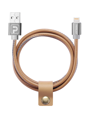 Powerology Premium Lightning Cable - Leather