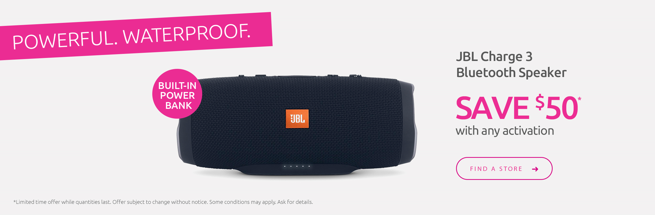 JBL Speaker Save $50 with any activation