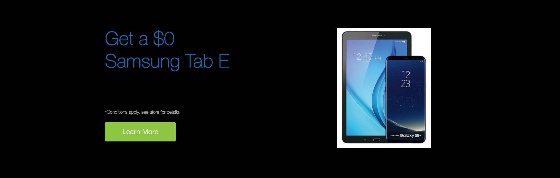 Get a $0 Samsung Galaxy Tab E with the Galaxy S8