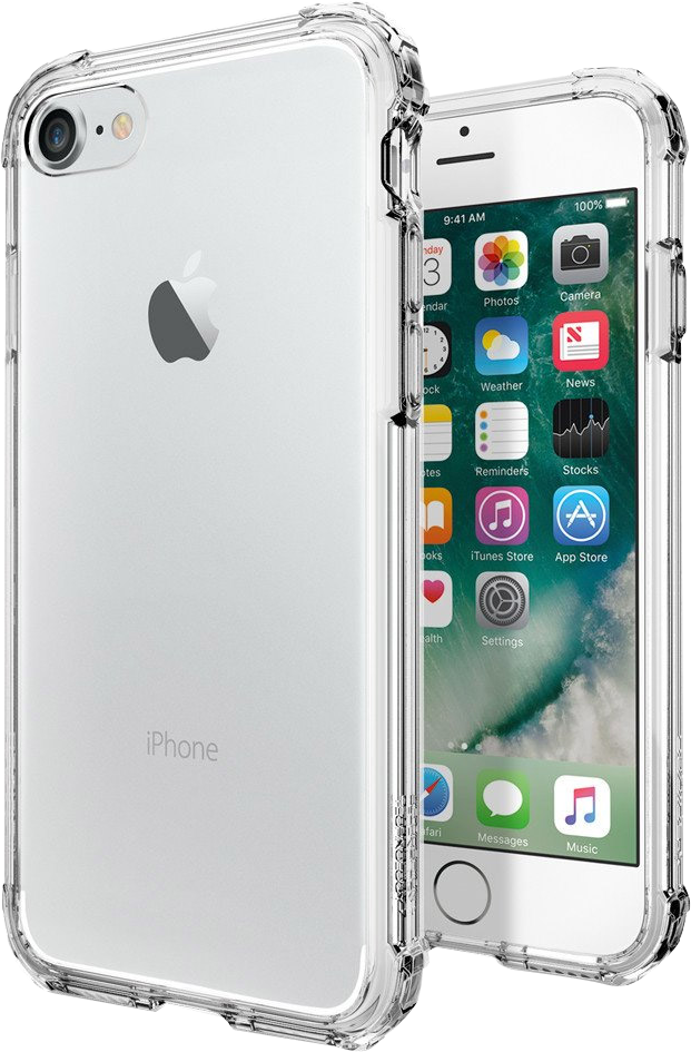 iPhone 8/7 Plus Crystal Shell Case - Clear Crystal