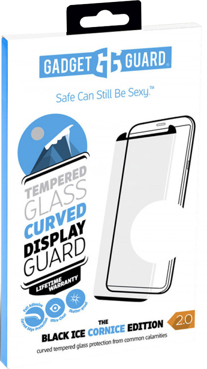 Galaxy S9+ Black Ice Cornice 2.0 Full Adhesive Curved Tempered Glass Screen Guard