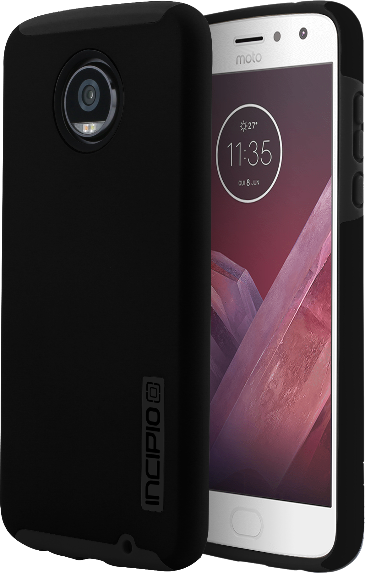 Moto Z2 Play DualPro Case - Black