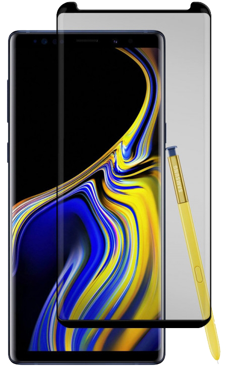 Galaxy Note 9 Black Ice Cornice Curved Glass Screen Protector