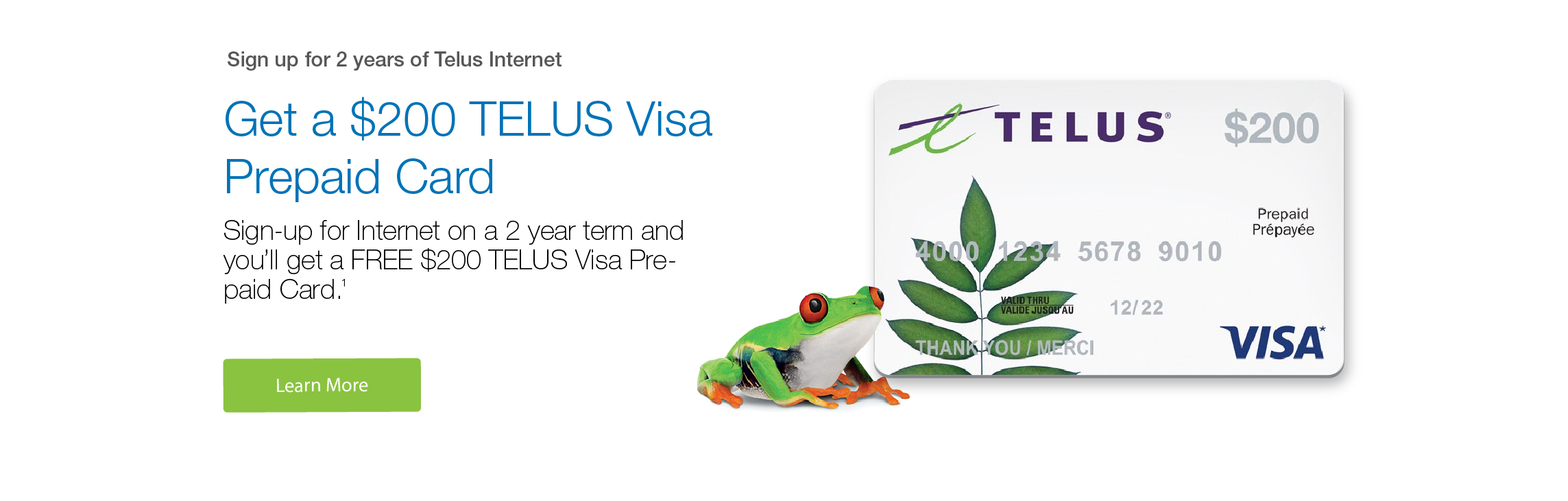 Sign up for 2 years and get a free VISA gift card