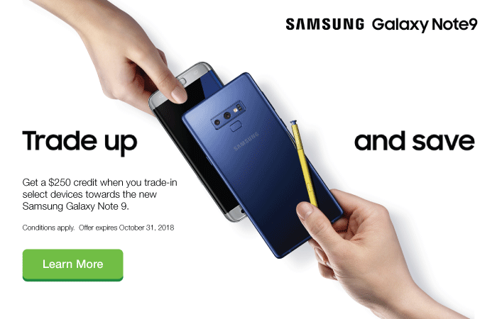 Samsung Note9 Trade-In Credit