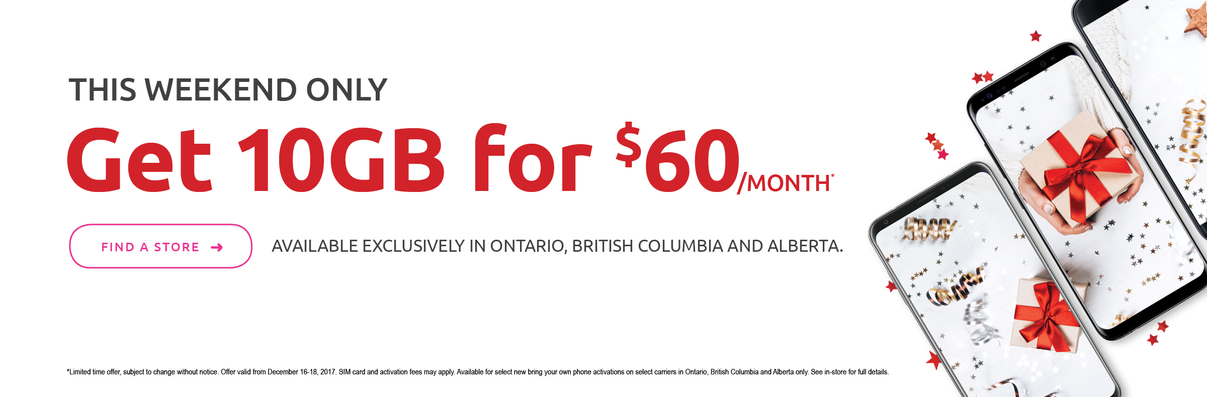 This Weekend Only  Get 10GB for $60 per month with Tbooth wireless