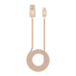 Caseco Braided Lightning Cable 1 Meter - Gold